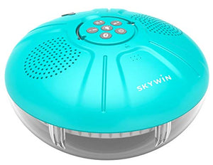 Skywin Hot Tub Speakers and Speakerphone - Disco Light Floating Waterproof IPX7 Large Wireless Pool and Shower Speaker - Pool Speakers Support Dual Speaker Connection and Feature Quality 2.1 Sound