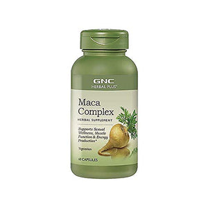 GNC Herbal Plus Maca Complex, 60 Capsules, Supports Sexual Wellness