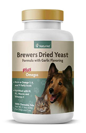 NaturVet – Brewer's Dried Yeast Formula with Garlic for Dogs & Cats