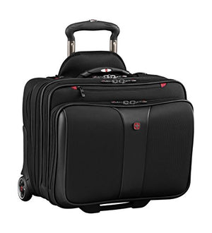 Wenger Luggage Patriot Ii 2 Pc Wheeled Laptop Bag with Removable Slimcase, Black, 15.6-inch