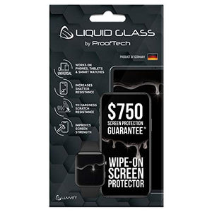 Liquid Glass Screen Protector with $750 Screen Protection Coverage - Scratch Resistant Wipe On Nano Coating for All Apple Samsung and Other Phones Tablets Smart Watch iPhone iPad Galaxy Universal