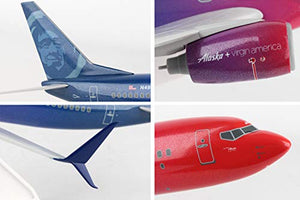 Daron Skymarks SKR913 Alaska Airlines 737-900ER 1/130 Scale More to Love Livery Airplane Model