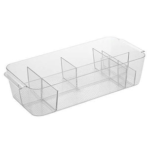 Interdesign Divided Cosmetic Bin - Clear - Large
