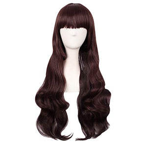 "MapofBeauty 28"" Wavy Multi-Color Lolita Cosplay Party Wig (Dark Brown/Light Brown)"