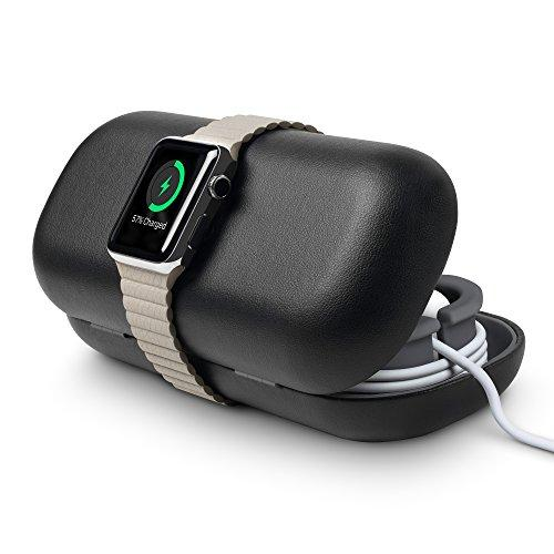 Twelve South Timeporter For Apple Watch, Black Travel Case+Charging Stand