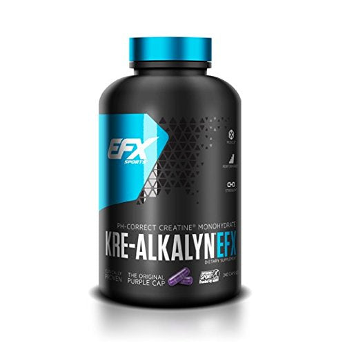 Efx Sports Kre-Alkalyn | Ph Correct Creatine Monohydrate | Patented Formula, Gain Strength, Build Muscle & Enhance Performance - 240 Capsules / 120 Servings