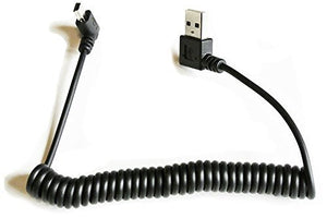 Robotjoy Coiled USB 2.0 Type A to Mini-B USB Cable w/Right Angle Connectors