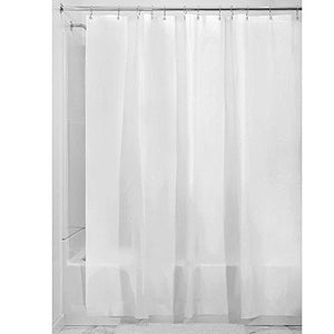 Interdesign 14762 Mildew-Free Eva 5.5 Gauge Shower Liner, Stall 54 X 78, Frost