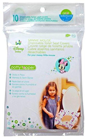 Disney Neat Solutions Disney Minnie Mouse Potty Topper Disposable Toilet Seat Covers, 10-Count