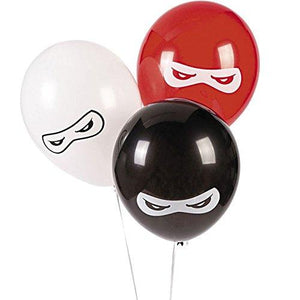 Fun Express Bb13628879 Ninja Warriors 11 In Latex Balloons 25 Pack