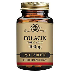 Solgar - Folic Acid 400 Mcg, 250 Tablets (Packaging May Vary)