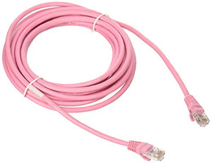 C2G 00504 Cat5e Cable - Snagless Unshielded Ethernet Network Patch Cable, Pink (15 Feet, 4.57 Meters)