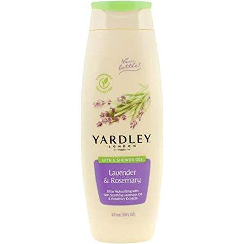 Yardley London Lavender & Rosemary Bath & Shower Gel, 16 Ounce