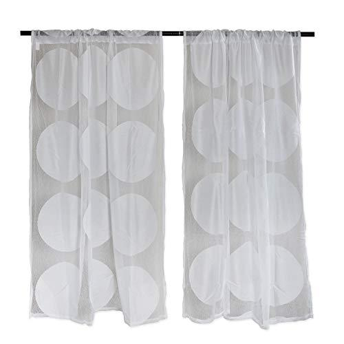 DII Sheer Lace Decorative Curtain Panels for Bedroom, Living Room, Guest Room, or Formal Sitting Areas, Light & Airy to Fi