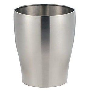 Interdesign Avery Wastebasket Trash Can For Bathroom, Kitchen, Office, Brushed Stainless Steel