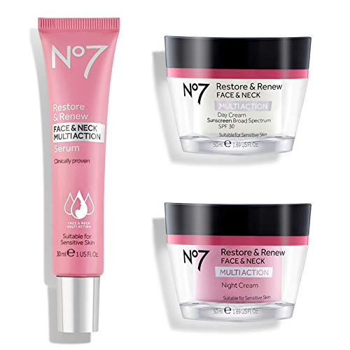 No#7 Restore & Renew Face & Neck Multi Action Anti-Ageing Skincare System