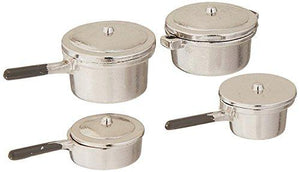 Darice Miniature Silver Stovetop Cookware