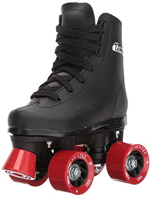 Chicago Skates Boys Rink Roller Skate - Black Youth Quad Skates - Size 3 (CRS190503)