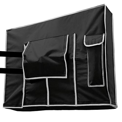 Outdoor TV Cover 40, 42, 43 inch Black - Weatherproof Protection for Flat TVs - Universal for Any Mounts and Stands