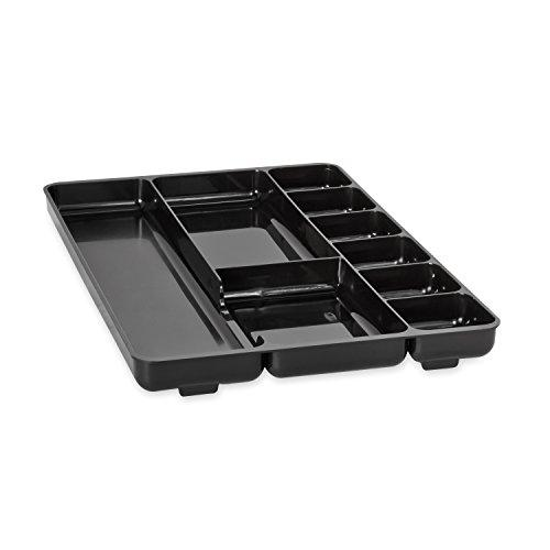 Rubbermaid Regeneration 9-Section Drawer Organizer Plastic 14 X 9.125 X 1.125 Inches Black (45706)