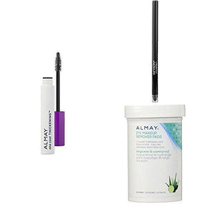 Revlon & Almay Perfect Eye Collection - Almay One Coat Thickening Mascara, Revlon Colorstay Eyeliner & Almay Longwear Eye Makeup Remover Pads - Black