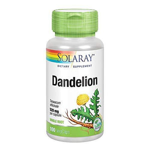 Solaray Dandelion Root Capsules, 520 Mg, 100 Count