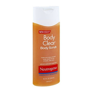 Neutrogena Body Clear Body Scrub, 8.5 Fluid Ounce (Pack of 4)