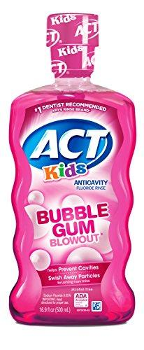 Act Kids Anti-Cavity Fluoride Rinse Bubblegum Blowout 16.9 Oz Children'S Mouthwash