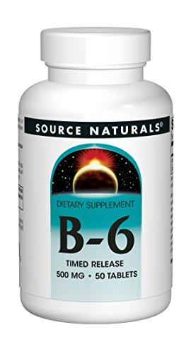 Source Naturals Vitamin B-6 500Mg Time Release, Immune System Support, 50 Tablets