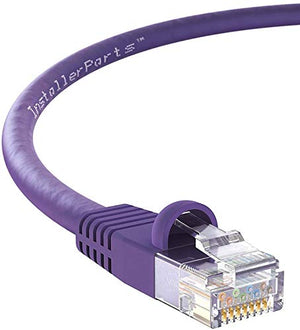 InstallerParts Ethernet Cable CAT5E Cable UTP Booted 6 FT - Purple - Professional Series - 1Gigabit/Sec Network/Internet Cable, 350MHZ