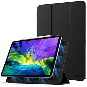 "TiMOVO Case for New iPad Pro 11 Inch 2020 (2nd Generation), Strong Magnetic Trifold Stand Case Cover with Auto Sleep/Wake Fit iPad Pro 11"" 2020 Release [Support Apple Pencil Pair & Charging] - Black"
