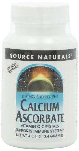 Source Naturals Calcium Ascorbate Vitamin C Crystals, Supports Immune System, 4 Ounces