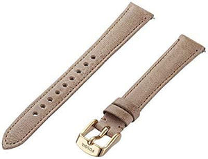 Fossil S141075 14mm Leather Calfskin Beige Watch Strap
