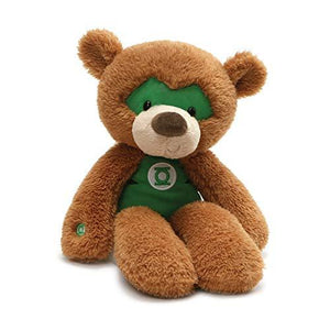 "Gund 4061434 Dc Comics Green Lantern Fuzzy Teddy Bear Stuffed Animal Plush, 14"", Brown"