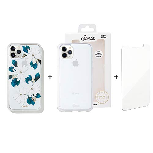 Sonix Delilah Flower Case + Clear Case + Screen Protector for iPhone 11 Pro