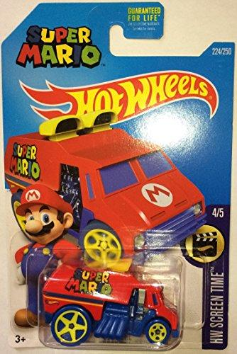 Hot Wheels, 2016 Hw Screen Time, Super Mario Cool-One Die-Cast Vehicle #224/250