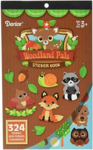 Darice 324 Piece, Woodland Critters Theme Activity Sticker Book