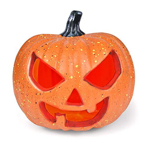 Fun Little Toys Halloween Decorations Light Up Pumpkin, 8 Inch Large Size Battery Operated
