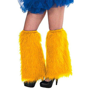Amscan Plush Leg Warmers, Party Accessory, Yellow