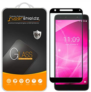 (2 Pack) Supershieldz for T-Mobile (Revvl 2 Plus) Tempered Glass Screen Protector, (Full Screen Coverage) Anti Scratch, Bubble Free (Black)