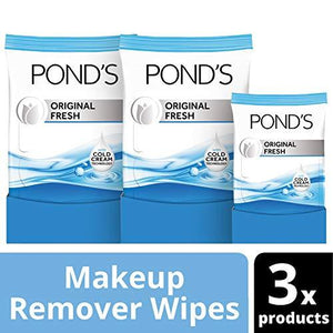 Pond'S Moisture Clean Makeup Remover Wipes, Original Fresh, 75 Ct