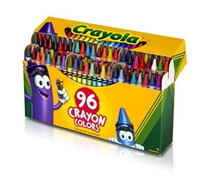 Crayola Crayons; Art Tools; 96 Ct.; Durable, Long-Lasting Colors, Built-In Sharpener