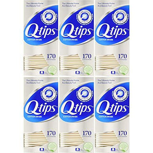 Q-Tips Cotton Swabs 170 Count Each (Value Pack Of 3)
