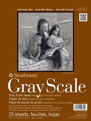 Strathmore Str-4400-012 15 Sheet No.80 Gray Scale Pad, 12 By 18""
