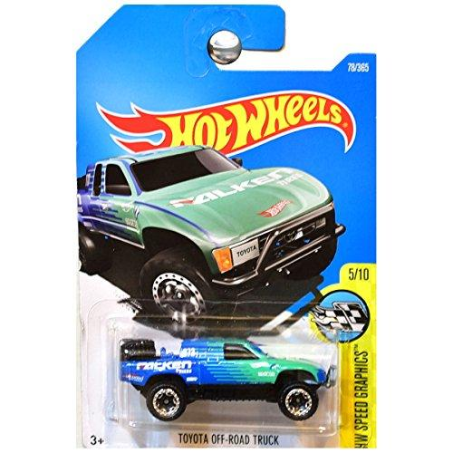 Hot Wheels 2017 Speed Graphics Toyota Off-Road Truck 78/365, Blue