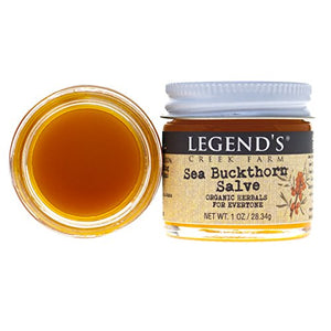 Sea Buckthorn Salve - 1 oz Jar - Organic Healing Skin Balm with St. John's Wort - Certified Cruelty Free