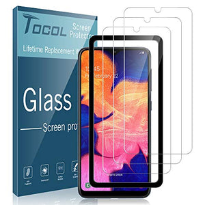 TOCOL [3Pack] for Samsung Galaxy A10e Screen Protector Tempered Glass HD Clarity Touch Accurate [9H Hardness] + Easy Installation Tray