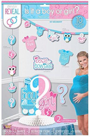 Forum Novelties Party Decorating Kit, Gender Reveal, One Size