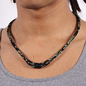 Phiten Digital Camo Titanium Necklace, Woodland, 18-Inch