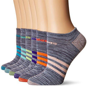 Adidas Womens Superlite No Show Socks (6Pack) Onix Clear